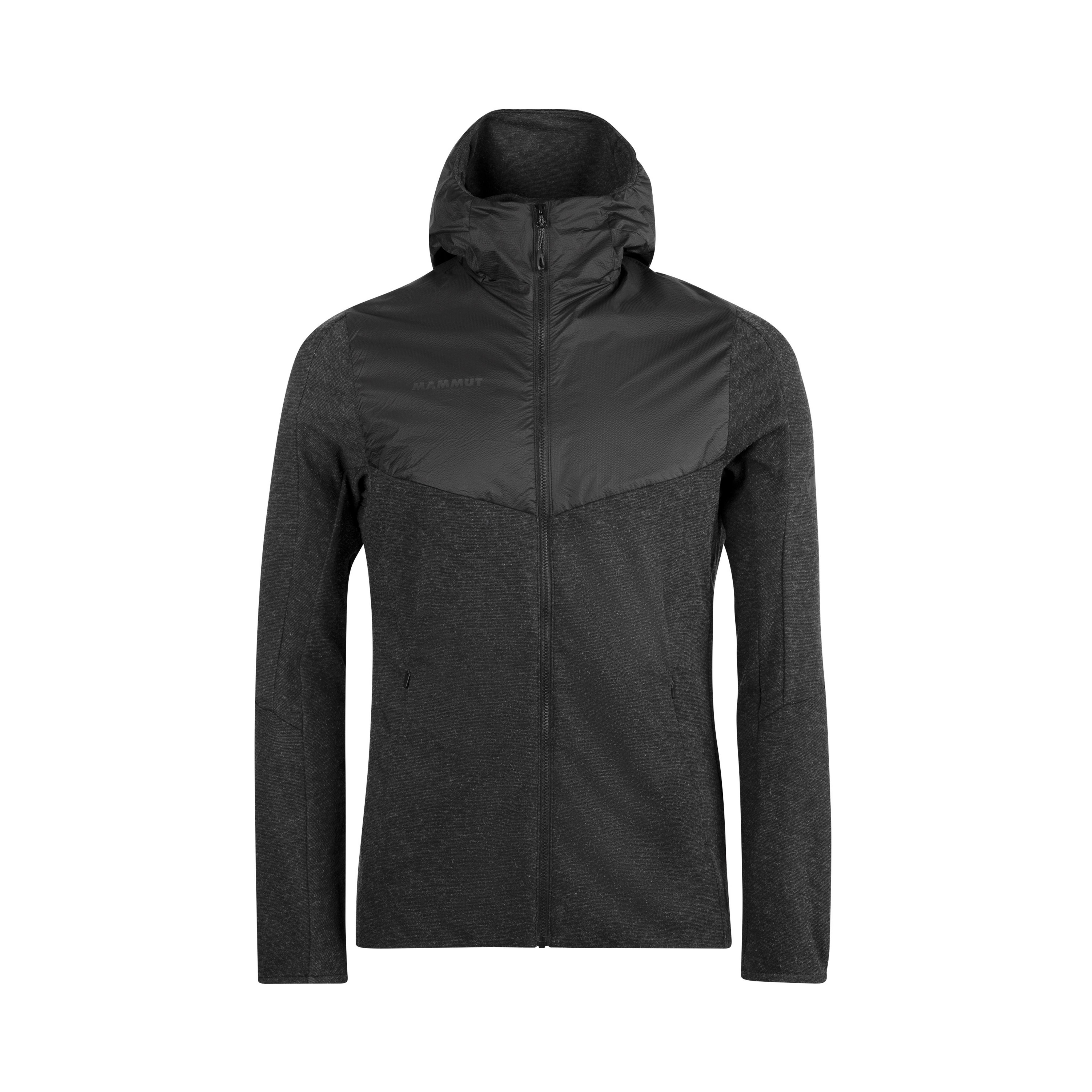 Alvra ML Hooded Jacket Men - black mélange-black, S thumbnail