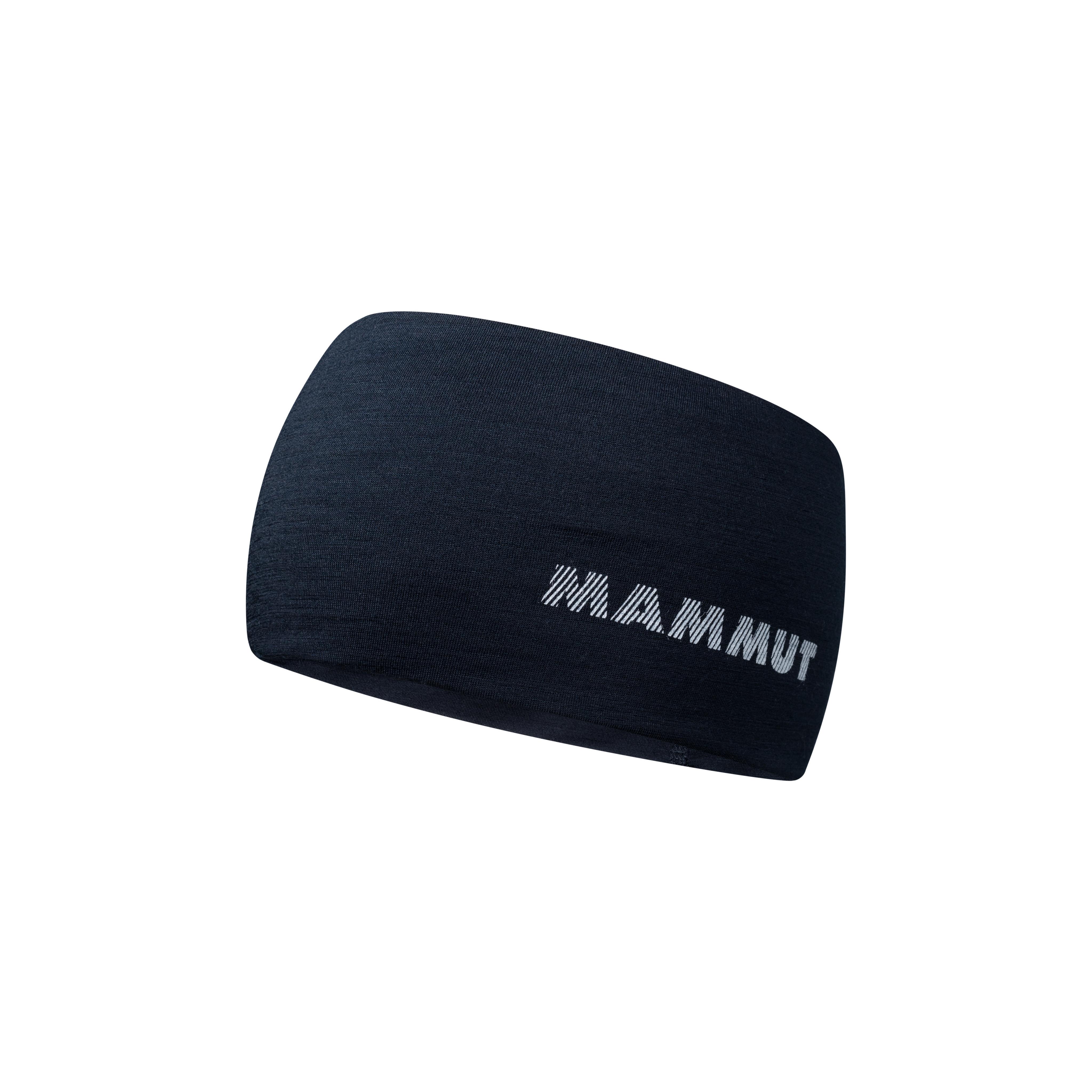 Merino Headband - marine melange, one size thumbnail