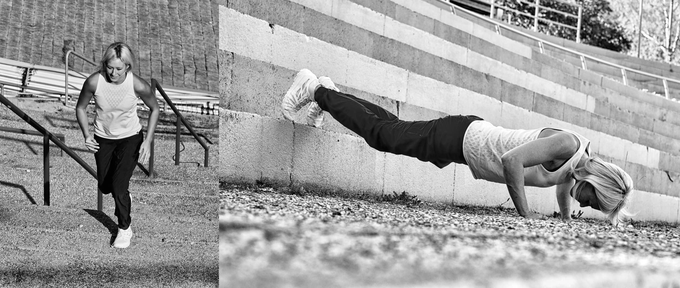 Mammut Pro Team Athletin Sierra Blair-Coyle beim Training im urbanen Raum
