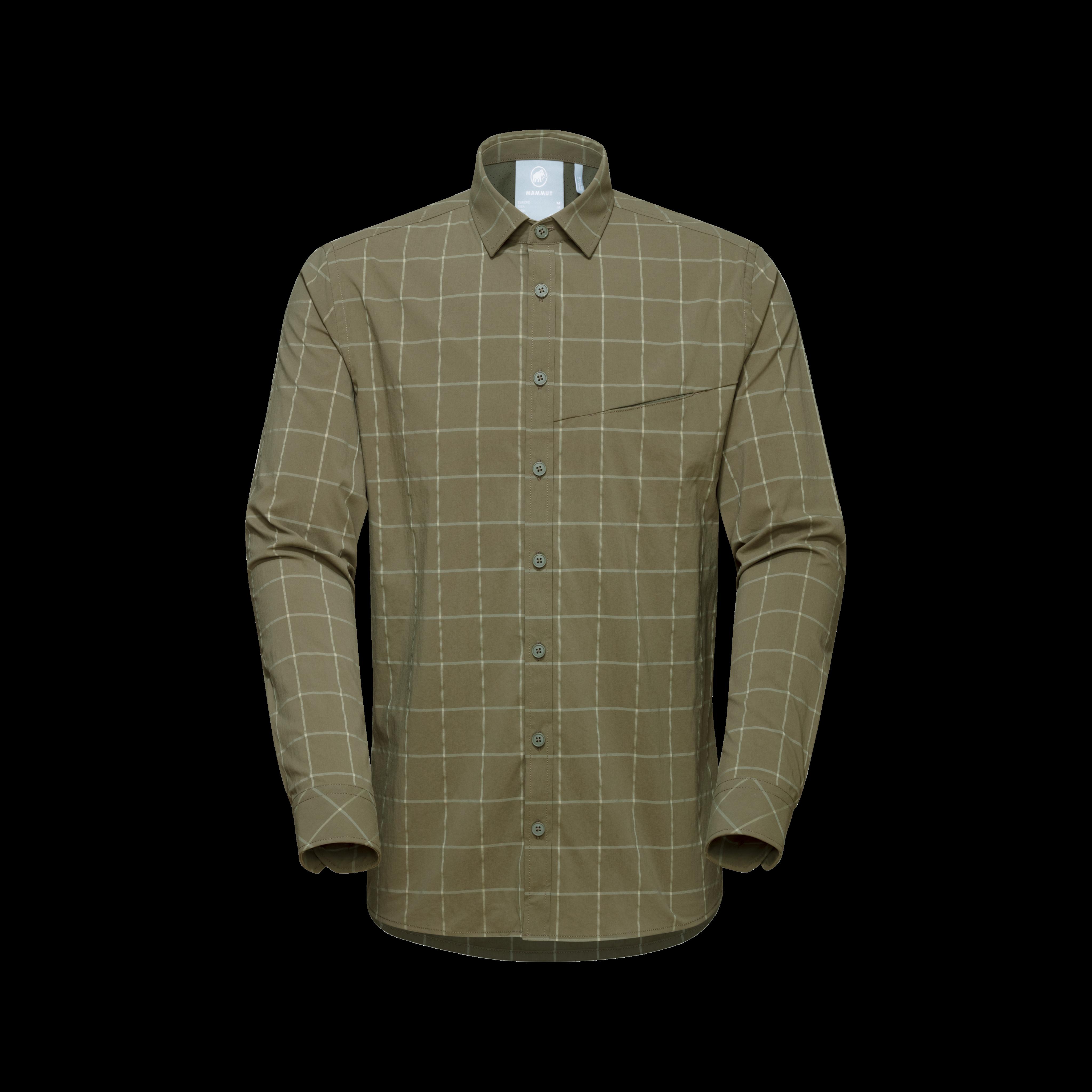 Mountain Longsleeve Shirt Men - iguana-olive, M thumbnail