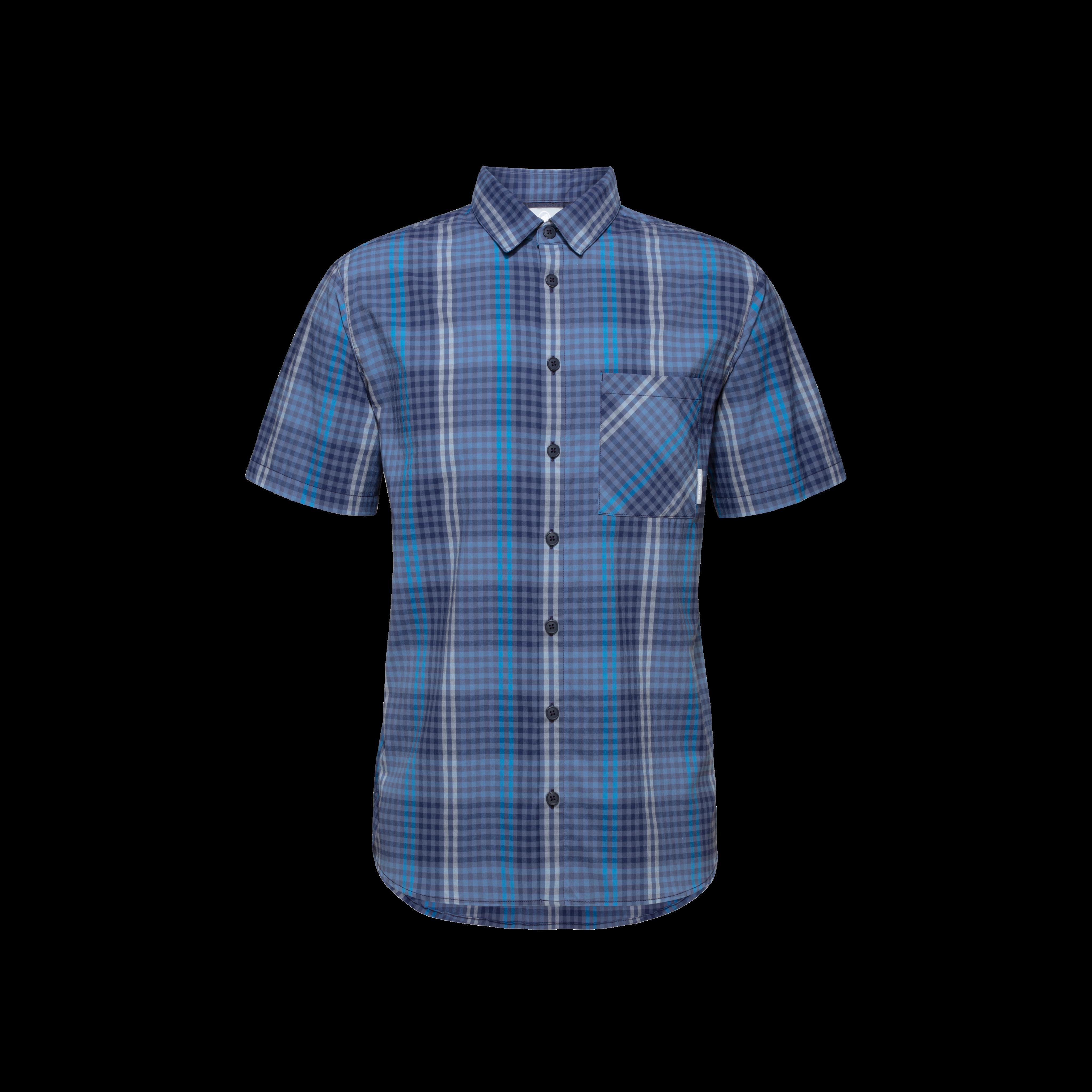 Calanca Shirt Men - L, peacoat-horizon thumbnail
