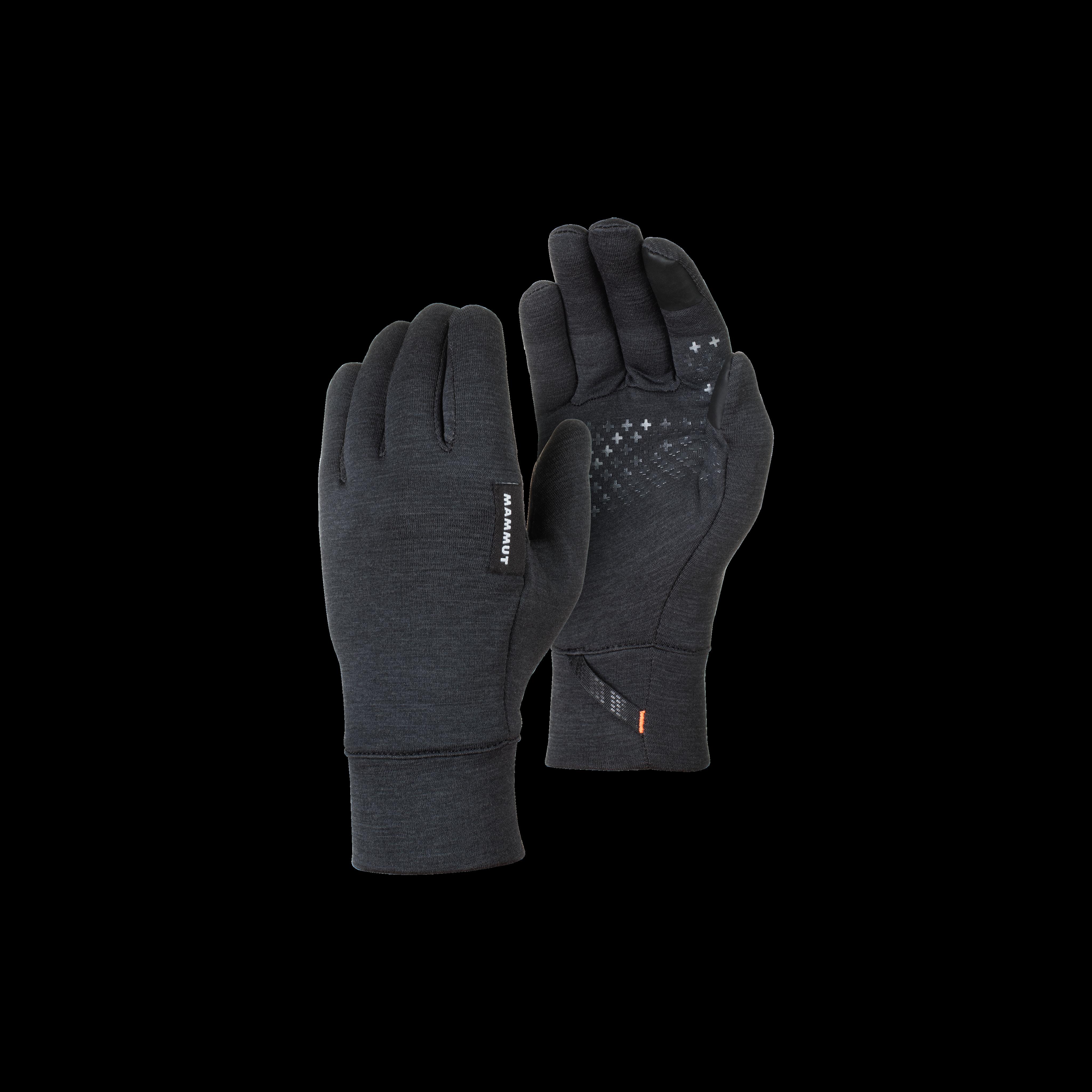Wool Glove - 8, black mélange thumbnail