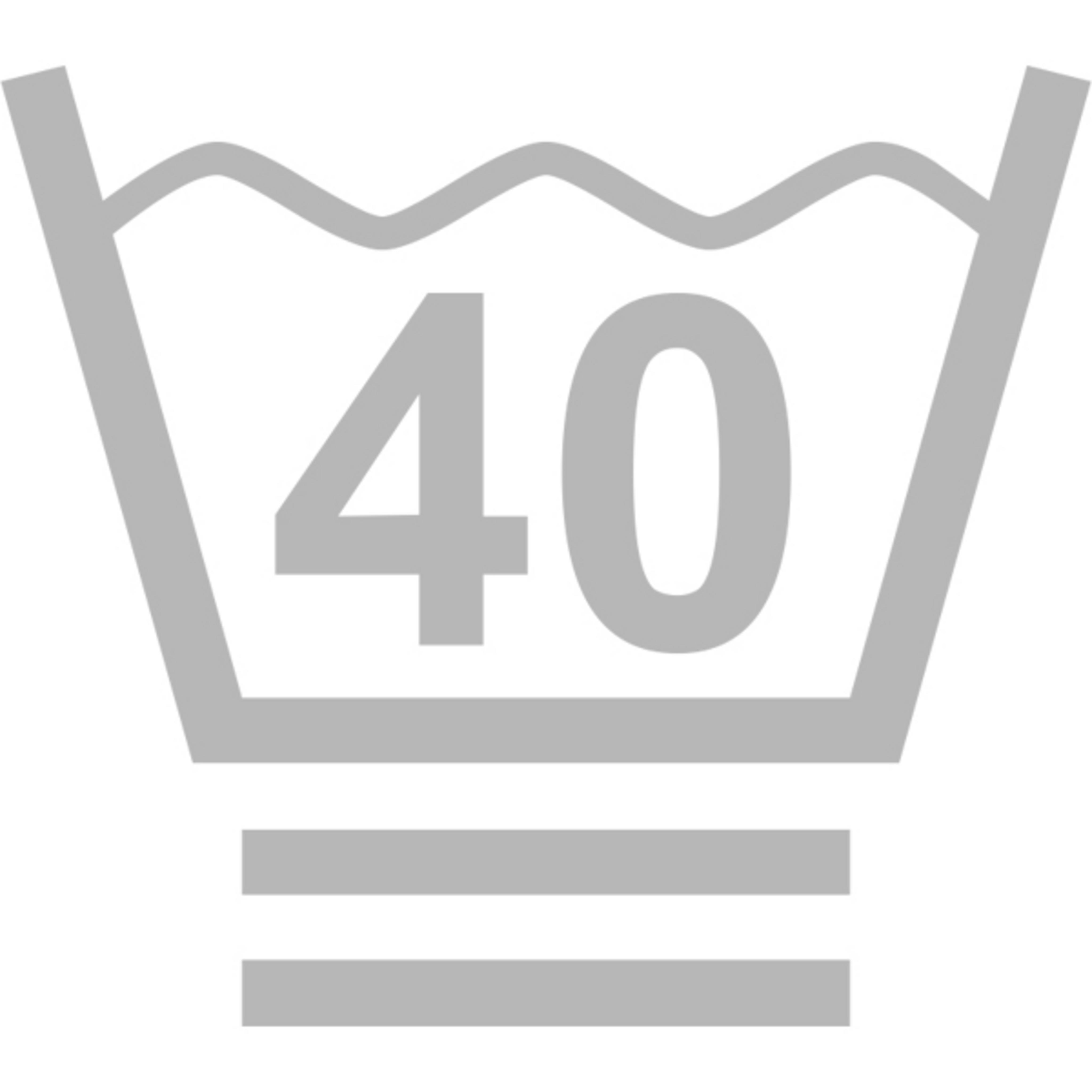 Maschinenwäsche im Spezialschonwaschgang bei maximal 40° Celsius